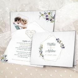Faire-part mariage GEOMETRIQUE et OLIVIER