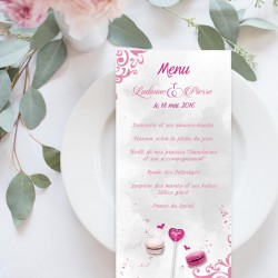 Menu mariage candy bar GOURMANDISES