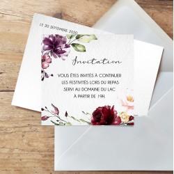 Carton d'invitation mariage BOHO