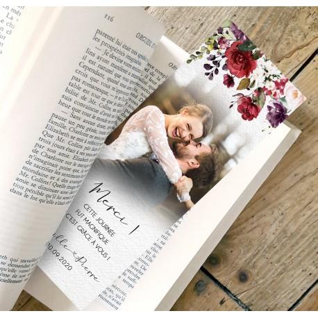 Remerciement mariage bohème BOHO