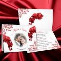 Faire-part ORCHIDEES rouge