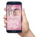 Faire-part numérique ATTRAPE-RÊVES rose