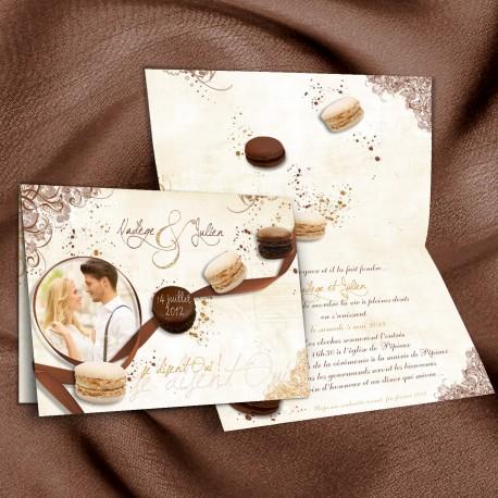 Faire-part GOURMANDISES chocolat beige