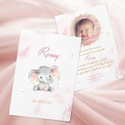 Faire-part de naissance petit éléphant ROMY2