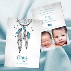 Faire-part naissance attrape-rêves LORYS2