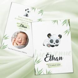 Faire-part de naissance panda KIM2