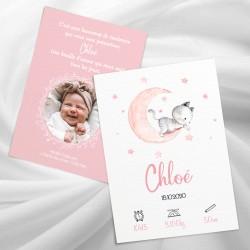 Faire-part de naissance chaton aquarelle CHLOE2