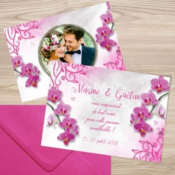 Remerciement mariage ORCHIDEES