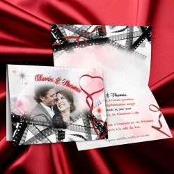 Faire-part mariage CINEMA