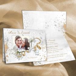 Faire-part mariage DIAMANT or