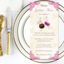 Menu de mariage macarons et gourmandises