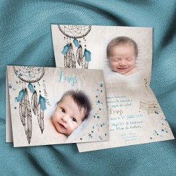 Faire-part naissance attrape-rêves LORYS