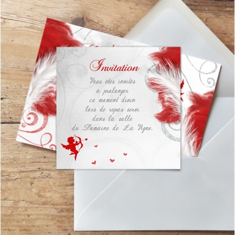 Carton d'invitation mariage ANGES