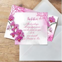 Carton d'invitation mariage Orchidées