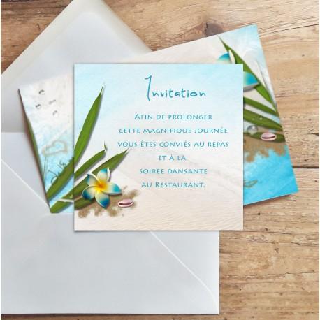 Carton d'invitation mariage Exotique