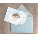 Echantillon - Faire part petit ange bleu