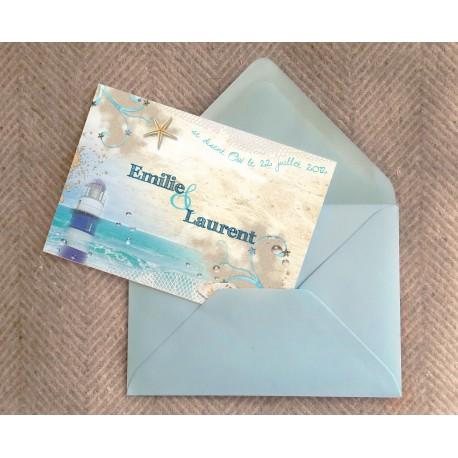 Echantillon - Faire part Mer