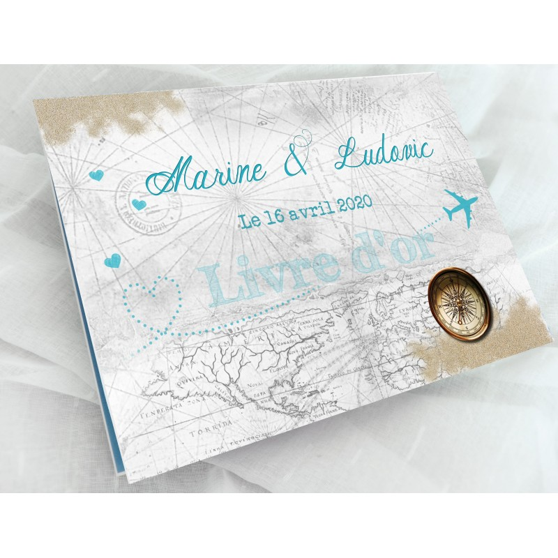 Livre D Or Personnalise Mariage Voyage