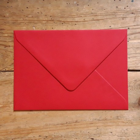 Enveloppe rectangle ROUGE PASSION