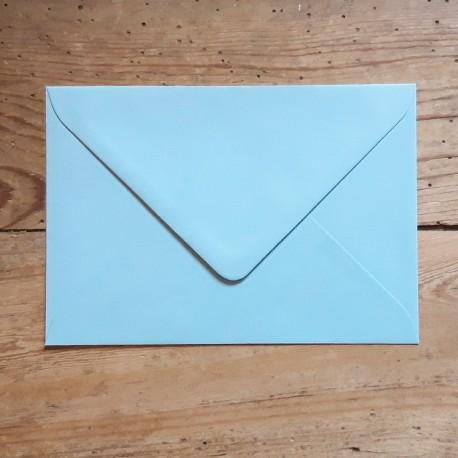 Enveloppe rectangle BLEU CIEL