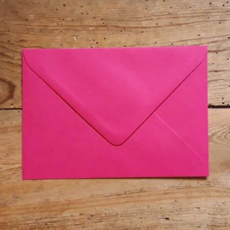 Enveloppe rectangle ROSE FUSCHIA