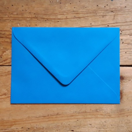 Enveloppe rectangle BLEU VIF